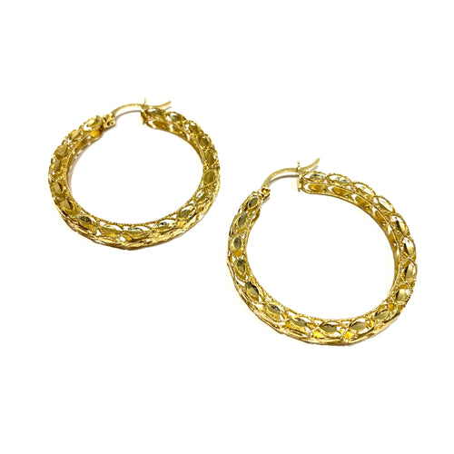 10k Gold Medium Turkish Hoops