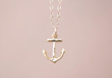 14Kt Gold filled Chain, with Gold Vermeil Anchor Pendant