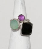Capri Large Stackable Square Ring Labradorite