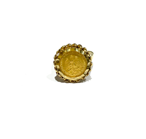 10k Gold Mexican Coin Ring Size 7.25