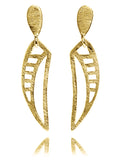Gold Plated 360 Bridge Earrings
