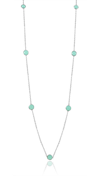 Otto Necklace Aqua Chalcedony