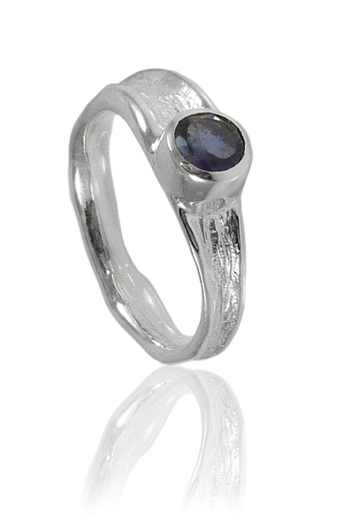 Thin Amazon River Ring with Iolite