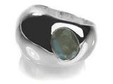 Gaudi Dome Ring with Faceted Stone Labradorite