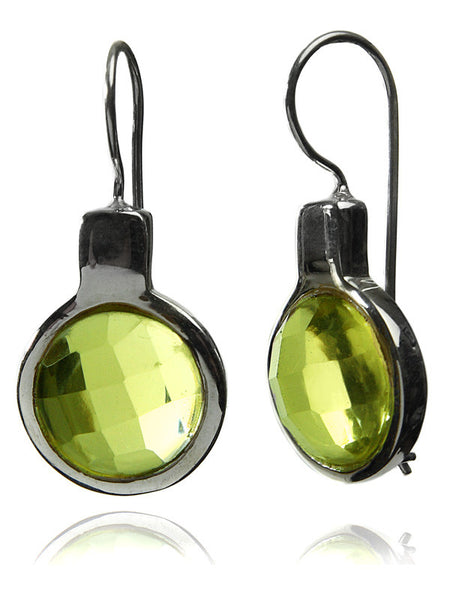 Italian Faceted Circle Earrings
