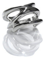 Stacked Double Thin Wave Ring