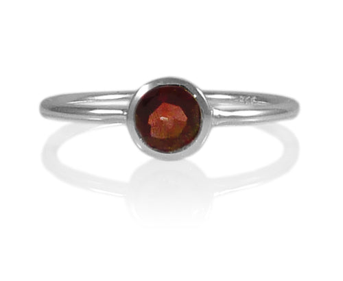Bilbao Stacking Ring Garnet