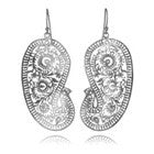 Matte Paisley Earrings (Large)
