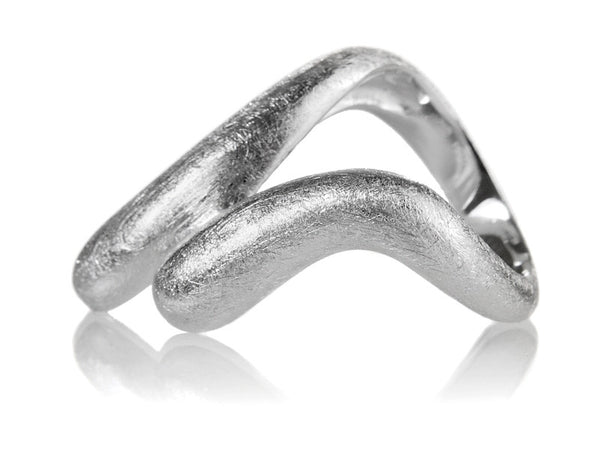 Brushed Bilbao Parallel Ring