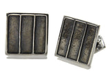 Industrial Framed Square Cufflinks (Oxidized)