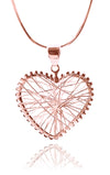 Rose Gold Plated Small Criss Cross Oktoberfest Heart Pendant