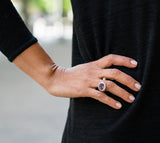 Oval Maidan Ring Garnet