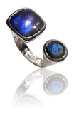Mexico City Art Deco Ring Labradorite
