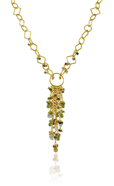 Tiny Kathak 8 Stone Necklace Mixed Stones