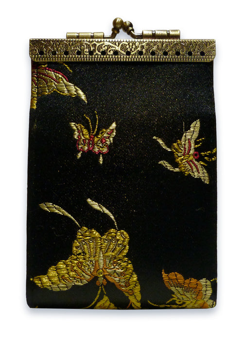 Card Holder Black Butterfly RFID