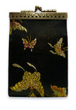 Cathayana Card Holder - RFID Black Butterfly