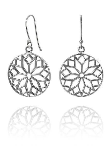 Thick Arabesque Disc Earrings