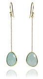 River Rock Drops Aqua Chalcedony