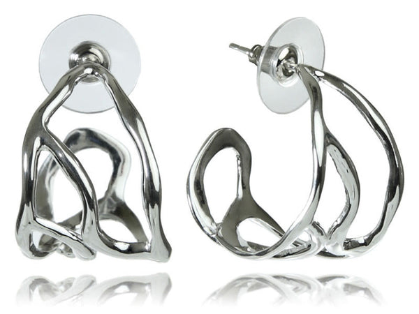 Twisted Bilbao Cuff Earrings