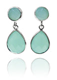 Capri Duo Earrings Aqua Chalcedony