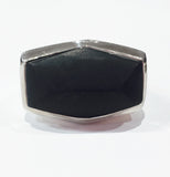 Brazilian Rough Cut Cocktail Ring Black Onyx