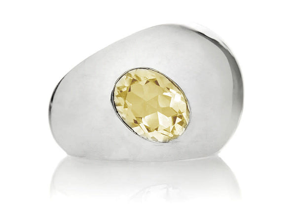 Gaudi Dome Ring with Faceted Stone Citrine 8