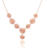 Rose Gold Plated Jalebi Necklace