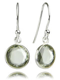 Hanging Puntino Earrings Green Amethyst