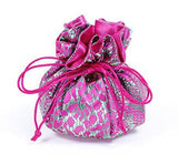Jewelry Pouch Fuchsia and Green