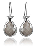 Arabesque Stone Lantern Earrings Grey Moonstone