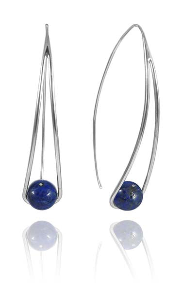 Brushed Double Circle Pin Dangle Earrings