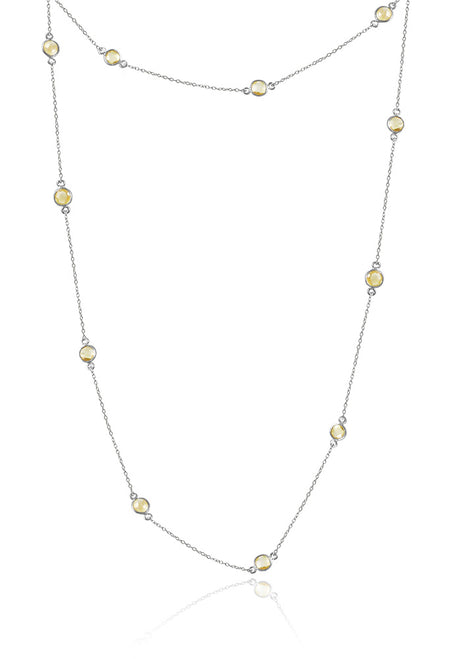 18K Gold Plated Quindici Pietra Milano Necklace Amethyst