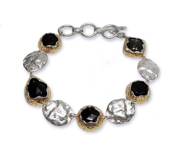 Golden Dome Bracelet Black Onyx