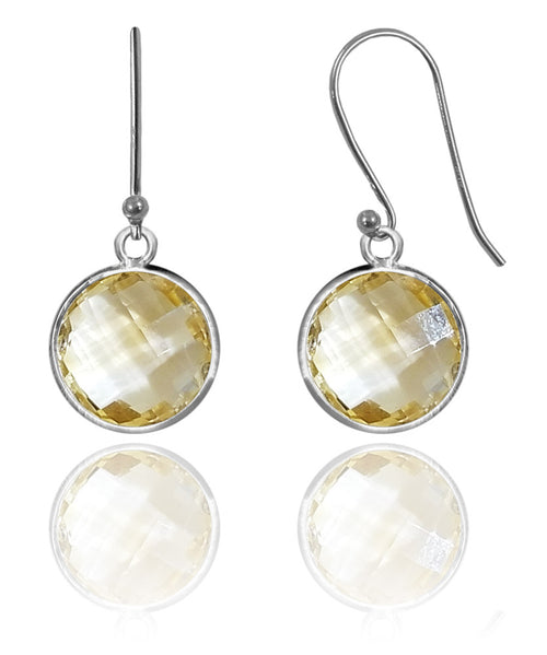 Medium Hanging Puntino Earrings Citrine