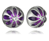 Arabesque Flower Cut Out Studs Amethyst