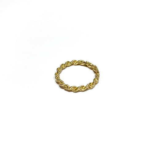 10k Gold Rope Band Size 5.5