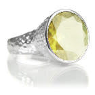 Gaudi Pointalism Cocktail Ring (Lemon Topaz)