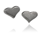 Heart Stud Earrings Matte