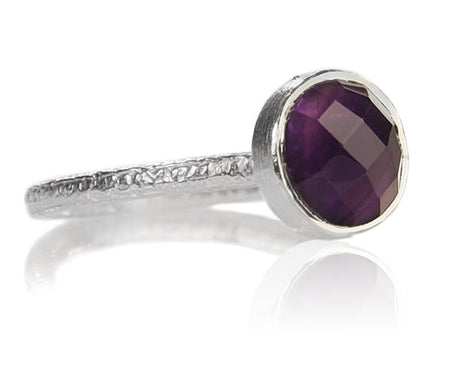 Amalfi Open Sided Cocktail Ring Amethyst