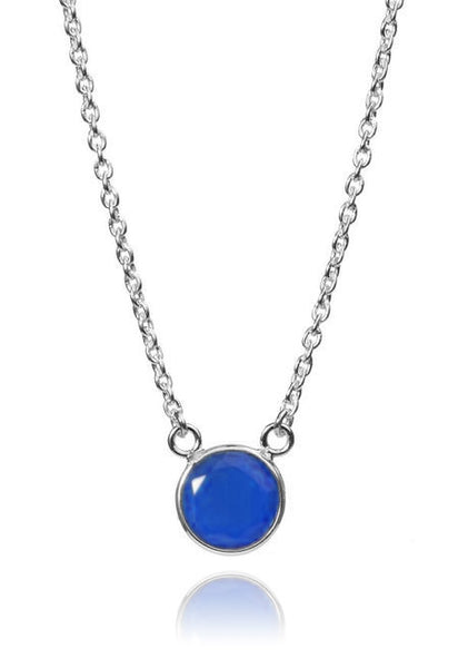 Puntino Necklace Blue Chalcedony