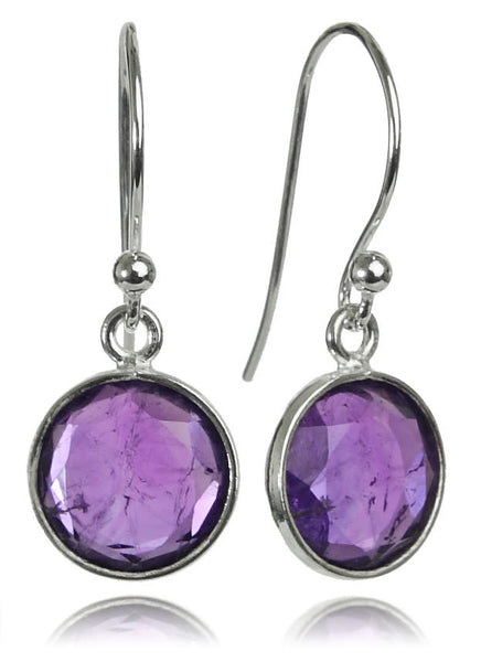 Hanging Puntino Earrings Amethyst