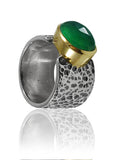 Sea of Galilee Ring Green Onyx