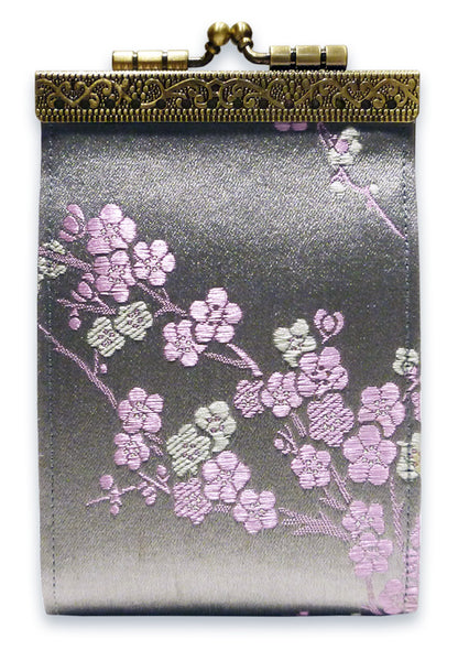 Cathayana Card Holder Cherry Blossom - Grey