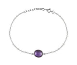Single Amazon River Rock Bracelet Amethyst