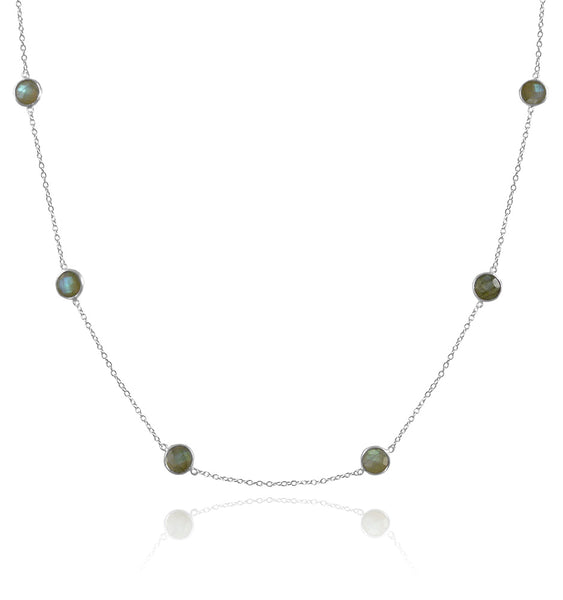8 Medium Stone Kathak Necklace Labradorite