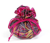 Jewelry Pouch Fuchsia Bamboo Leaves