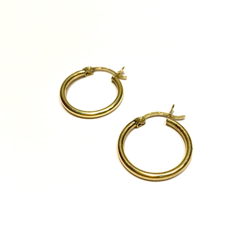 10k Gold Medium Gold Hoops