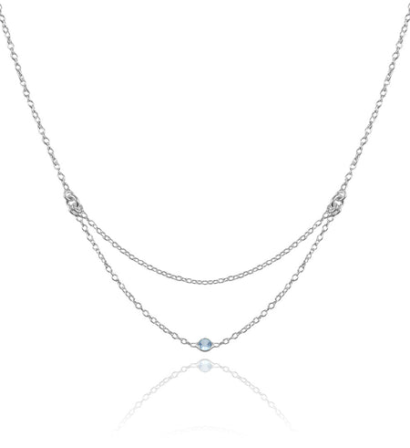 7 Stone Kathak Necklace Blue Topaz