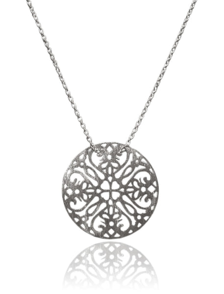 Matte Single Arabesque Disc with Chain