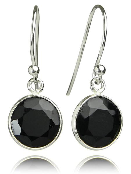 Hanging Puntino Earrings Black Onyx